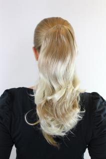 Extension, Haarteil, Blond-Mix, helle Spitzen, wellig, ca. 40 cm, JL-0065-27T613