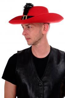 DRESS ME UP - Halloween Karneval Hut Musketier Gestielter Kater Edelmann H75