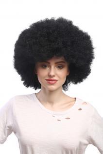 Perücke Karneval Fasching Großer Afro Afroperücke XXL Schwarz XR-002-P103