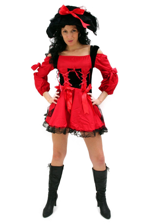 kost m sexy piratin rote korsarin piratenbraut karibik. Black Bedroom Furniture Sets. Home Design Ideas