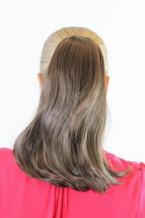 Haarteil, Braun, Zopf, Klammer, glatt, ca. 30 cm, geschwungene Spitzen 0048HT-6