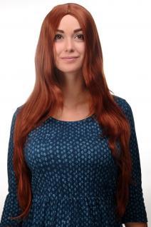 Qualitäts Perücke Rot Kupferrot glatt Mittelscheitel Scheitel 80cm lang 3217-130