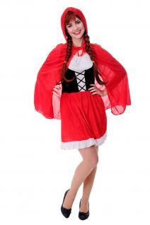 DRESS ME UP - Kostüm Damen Damenkostüm Sexy Rotkäppchen Red Riding Hood Gr. S/M