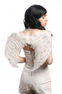 Halloween Karneval Flügel Federn Weiß Engel Engelchen Schwan Heiliger Geist Goth