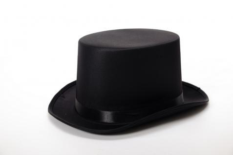 Hut Topper Zylinder Gentleman England britisch Ripper schwarz bezogen VJ-202