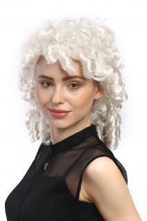 Perücke Damen Karneval Fasching Barock Weiß Spirallocken Prinzessin Edelfrau