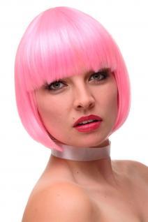 WIG ME UP Damenperücke Perücke Cosplay kurz Bob Pony Pink Mix Disco Sexy GFW248F