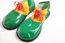 Karneval Zirkus Kinderparty Clown Clownschuhe übergroße Schuhe grün VQ-026-green