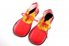 Karneval Zirkus Kinderparty Clown Clownschuhe übergroße Schuhe rot VQ-026-red