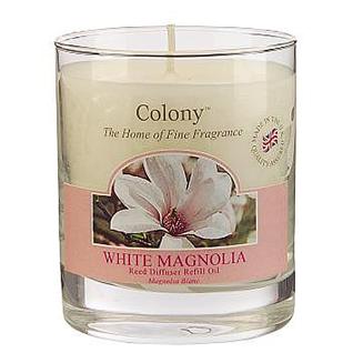 White Magnolia Colony Duftkerze im Glas 35h