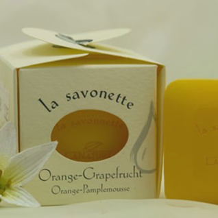 Orangen-Grapefruit Gästeseife 3x25g von LaNature