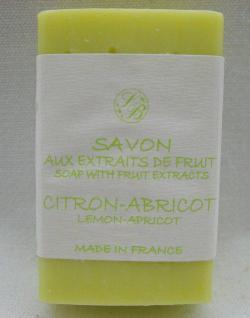 Zitrone/Aprikose Pflanzenölseife Savonnerie de Bormes Provence 100g
