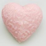Herz Magnolie mit Ornamenten Florex Schafmilchseife 75g