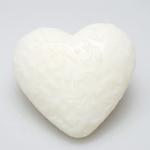 Herz Natur mit Ornamenten Florex Schafmilchseife 75g