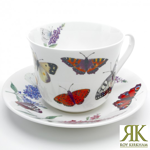 Jumbotasse Schmetterlinge Butterfly von Roy Kirkham 420ml