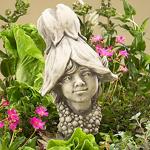 Blumenkind Abutilon Junge Gartenfigur 23cm Zauberblume