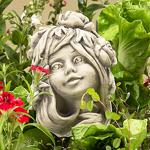 Blumenkind Trollblume Gartenfigur 20cm Zauberblume