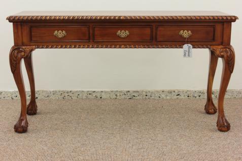Englischer Chippendale Schreibtisch Konsole Mahagoni light brown walnuss - Vorschau 1