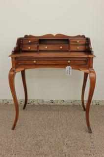 Sekretär Schreibtisch Konsole Handarbeit aus massivem Mahagoni light brown - Vorschau 1
