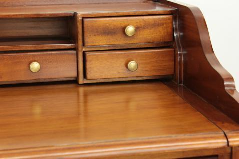 Sekretär Schreibtisch Konsole Handarbeit aus massivem Mahagoni light brown - Vorschau 4