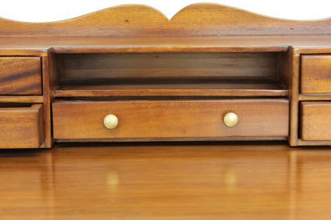 Sekretär Schreibtisch Konsole Handarbeit aus massivem Mahagoni light brown - Vorschau 5