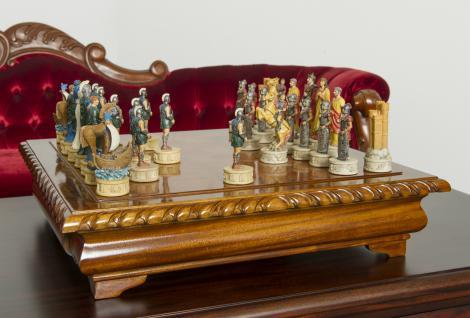 Schachtisch Spieltisch Spielbrett Schachbrett Mahagoni NEU - Vorschau 2