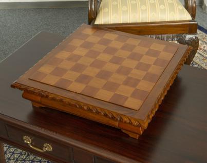 Schachtisch Spieltisch Spielbrett Schachbrett Mahagoni NEU - Vorschau 3
