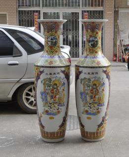 Monumentales Prunkgefäß Standvase Vase hochwertiges Porzellan H 180 cm - Vorschau