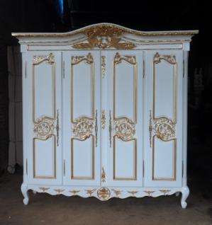 Kleiderschrank antik white / gold Mahagoni massiv ein Traum - Vorschau