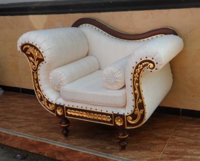 Wunderschöner Sessel Hochzeitssessel Mahagoni braun Wallnuss/ gold - Vorschau 2