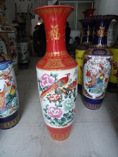 Monumentales Prunkgefäß Standvase Vase hochwertiges Porzellan H 140 cm - Vorschau