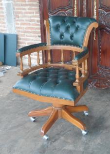 Wunderschöner Chef Sessel Büro Sessel Mahagoni hellbraun Wallnuss