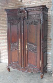 Kleiderschrank dunkelbraun Walnuss Mahagoni massiv ein Traum 2 Türen - Vorschau