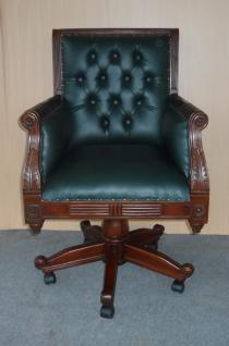 Wunderschöner Chef Sessel Büro Sessel Mahagoni
