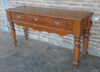Schreibtisch Konsole Mahagoni hellbraun walnuss - Vorschau