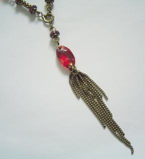 KONPLOTT Kette Eye of the Cobra red antique bronce - Vorschau 2