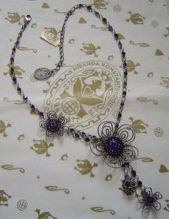 KONPLOTT Kette Wire Romance dark blue / antique silver