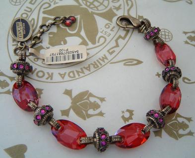KONPLOTT Armband Eye of the Cobra light red / antique bronce
