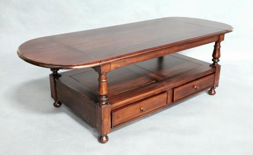 Mahagoni Tisch Couchtisch im Kolonial Stil Couch Tisch 175/120 cm