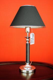stylishe Lampe Leuchte Tischleuchte Tischlampe Chrom / Black Höhe 48 cm