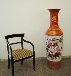Monumentales Prunkgefäß Standvase Vase hochwertiges Porzellan H 140 cm - Vorschau 2