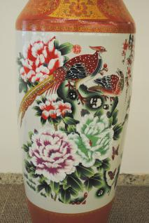 Monumentales Prunkgefäß Standvase Vase hochwertiges Porzellan H 140 cm - Vorschau 3