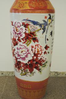 Monumentales Prunkgefäß Standvase Vase hochwertiges Porzellan H 140 cm - Vorschau 4