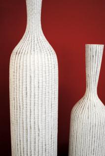 Designervase Deko Vase Korfu weiss / silber Höhe 62, 5 cm - Vorschau 2