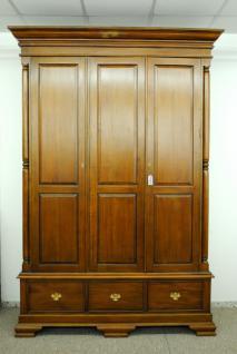 Kleiderschrank Kolonialstil Mahagoni massiv ein Traum Farbe brown Walnuss - Vorschau 1