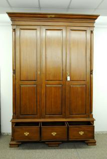 Kleiderschrank Kolonialstil Mahagoni massiv ein Traum Farbe brown Walnuss - Vorschau 2