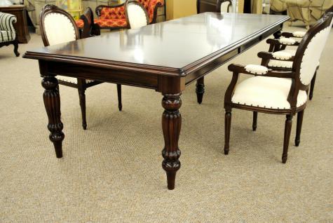 Massivholz Tisch Esstisch Mahagoni Louis Stil Länge 330 cm Premium Qualität