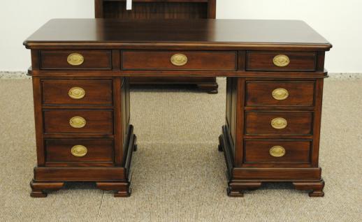 Schreibtisch Sekretär aus der Serie Vanessa, massiv Mahagoni - Vorschau 1