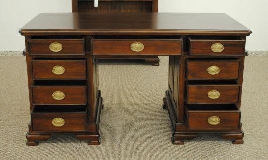 Schreibtisch Sekretär aus der Serie Vanessa, massiv Mahagoni - Vorschau 2