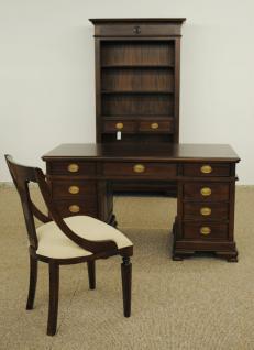 Schreibtisch Sekretär aus der Serie Vanessa, massiv Mahagoni - Vorschau 3